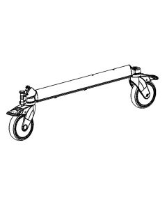 Frame tube with 2 wheels and brake Ø=125 mm, Taurus