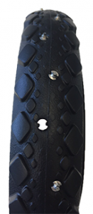 Studded tyres, pair of rear wheels
